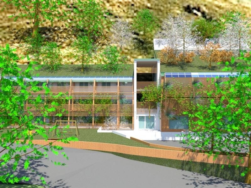 2018-2019. Progetto di struttura ricettiva, ristorante - albergo, prov. Brescia, edificio  Passivo in legno
